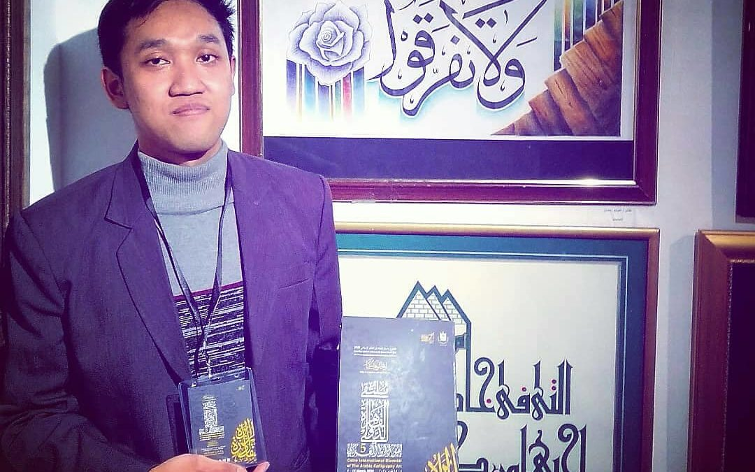 Karyanya Bersaing, Anggota Afanin ICMI Unjuk Diri di Pameran Khat Internasional